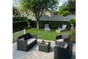 Набор садовый, под ротанг, два кресла+диван+столик. Сделано в Испании