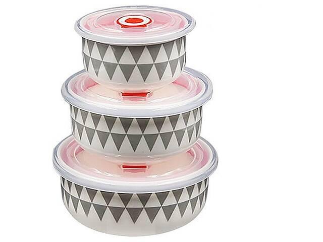 купить бу Набор салатников с крышками Stenson MC2700, 3 шт в Киеве