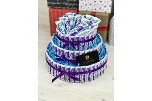 Новинка/ Сладкий торт из шоколадок/ Подарок на день рождения / Ручная работа