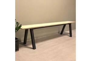 Обеденная скамейка в стиле LOFT (NS-970002072), вис-450мм, шир-400мм, довж-1600мм,