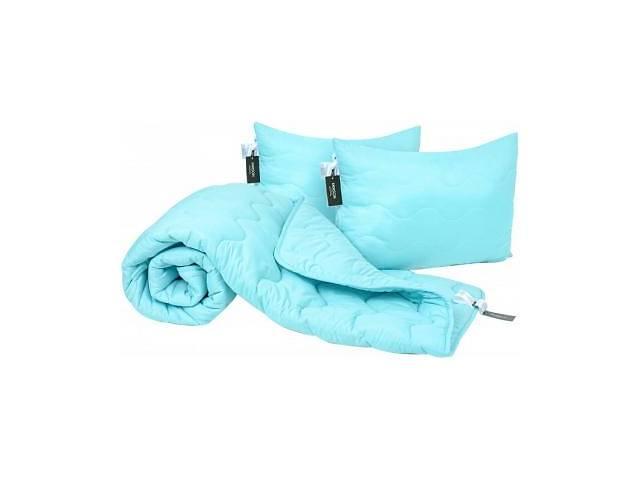 Одеяло MirSon Набор EcoSilk Всесезонный 1662 Eco Light Blue Одеяло + подуш (2200002655163)- объявление о продаже  в Харькове