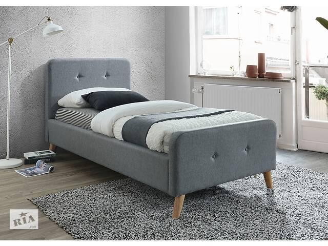 купить бу Односпальне ліжко Malmo 90X200 Сірий в Одессе