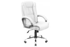 Офісне крісло керівника Richman California Лаки White Хром М2 AnyFix Біле