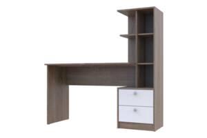 Офисный стол Т7 Doros Трюфель / Белый 136х55х138 (514000)