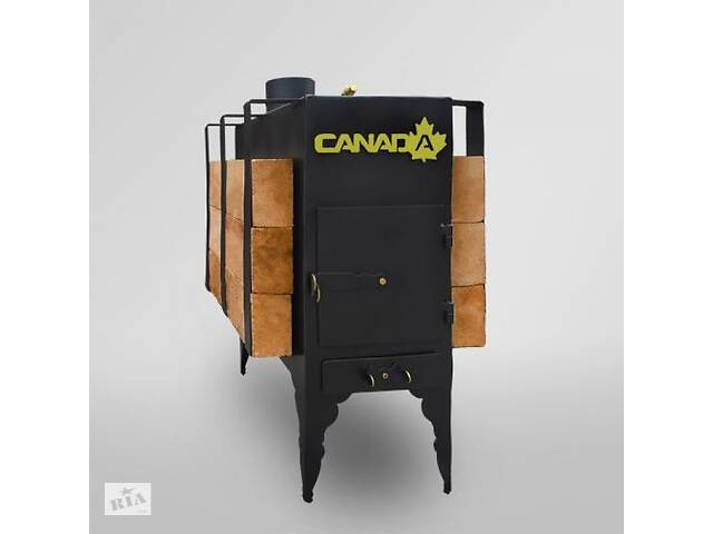 купить бу Печь дровяная CANADA с теплоаккумулятором длительного горения в Запорожье