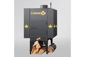 Піч дров'яна Canada з теплоаккумулятором і захисним декоративним кожухом