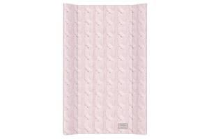 Пеленальная доска для новорожденных на комод Ceba Baby Pastel Collectio0n Cable stitch 50х80 см., розовая
