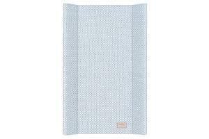 Пеленальная доска с бортиками для ребенка на кровать CebaBaby Pastel Collection English rib 50х80 см., голубая