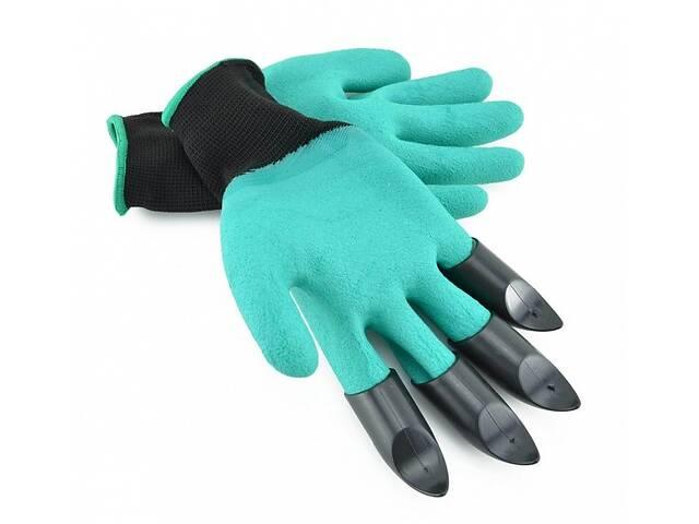 купить бу Перчатки садовые с когтями Garden Genie Gloves для сада и огорода (Fr432q) в Киеве