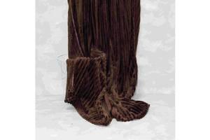 Плед-покривало Viluta Флісова Bamboo Line Коричневе 200х230 см (172106)