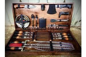 Подарунковий набір Шапмуров для пікніка в дерев'яному ящику