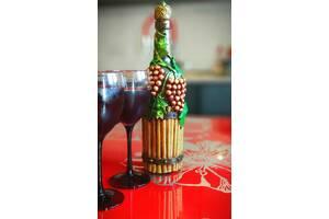 Подарунковий декупаж пляшки для вина