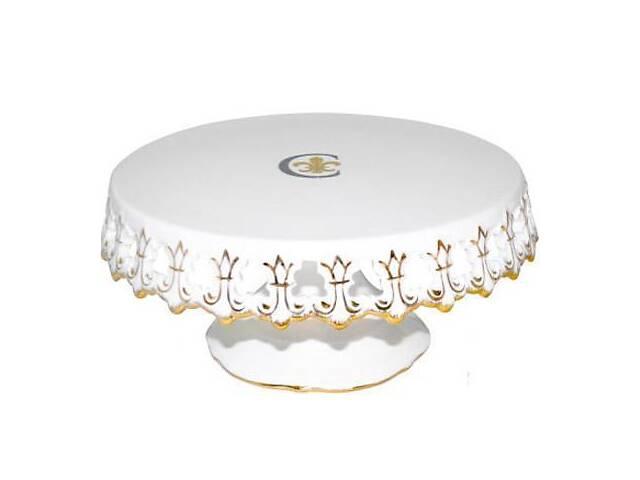бу Подставка для торта Золотая Лилия d 24.5 см фарфор (psg_ST-30861) в Киеве