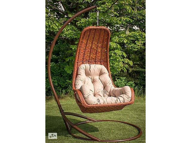 продам Подвесное садовое кресло качели кокон капля шар плетеное из ротанга Украинские Конструкции Багама / Bagama бу в Киеве