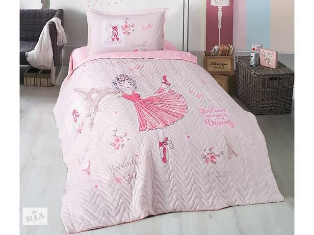 купить бу Покрывало подростковое Aran CLASY стеганное хлопковое с наволочкой 180x240 Romantic Girl (1005859) в Одессе