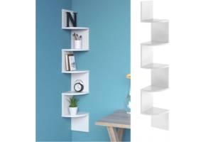 Полка угловая для книг настенная, навесные полки из ДСП полки в спальню, ванною, кухню