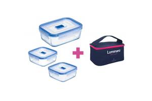Пищевой контейнер Luminarc Pure Box Active набор 3шт 2х380мл/820мл/ + сумка (P8002)