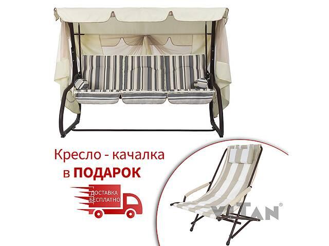 продам Садовый уличный раскладной 4х местный диван качель кровать Vitan / Витан Сиеста (дралон) бу в Киеве