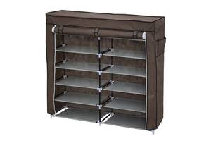 Шкаф для обуви складной тканевый Т2712 коричневый