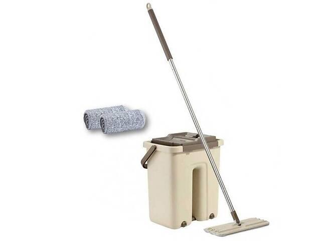 купить бу Швабра с ведром комплект для уборки Scratch Cleaning Mop Kronos 00081 автоматический отжим (gr_011304) в Киеве