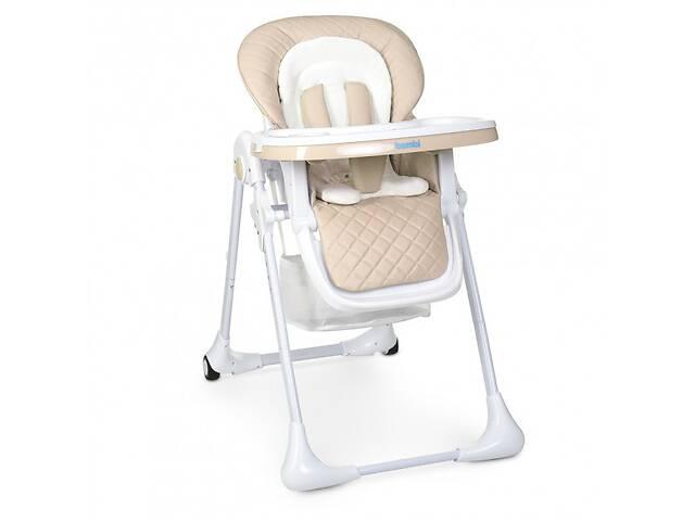 бу Складной, детский стульчик для кормления на колесиках со съемным чехлом «Bambi» M 3890 Caramel, бежевый в Львове