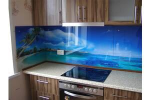 Скинали - стеклянный фартук для кухни