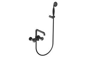 Смеситель для ванны каскадный Art Design 7886 Bombini черный