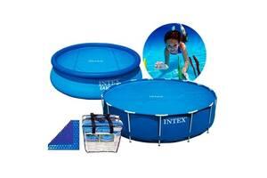 Солнечное покрывало для бассейна Easy Set 244 см, D 206 см, 120 Мкр, 110 G-M² SKL11-249545