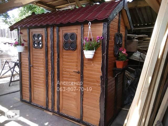 Совмещенный туалет и душ из дерева под старину ( дачный )- объявление о продаже  в Житомире