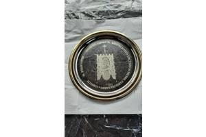 Тарелка металлическая декорирована диаметр 15см возрасте 25 лет