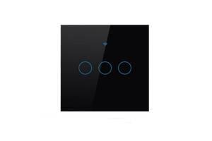 Трехканальный сенсорный умный выключатель Wi-Fi Smart Switches с управлением голосом (Alexa/Google Home) (TG86-06)
