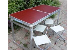 Усиленный стол для пикника раскладной со стульями 4 стула складной Столик , портативный для природы Харьков