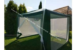 Водонепроницаемый садовый шатер 3х3м, павильон, тент, намет, москитная сетка