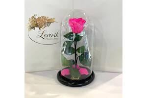 Ярко-розовая Фуксия роза в колбе Lerosh - Classic 27 см SKL15-279571