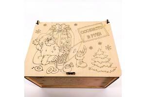 Ящик Почта деда Мороза Мастерская мистера Томаса 20*16*12 см фанера 4 мм