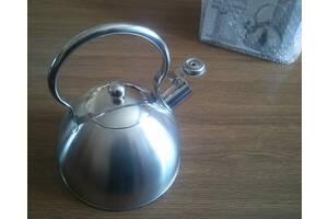 Індукційний чайник 2.5 літра зі свистком екологічний без пластмаси, на ПОДАРУНОК