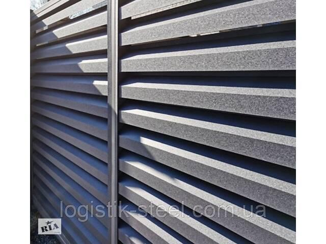 """Забор ЖАЛЮЗИ металлический тип """"Exclusive"""" (Эксклюзив 60/120 мм) двухстороннее покрытие- объявление о продаже  в Виннице"""