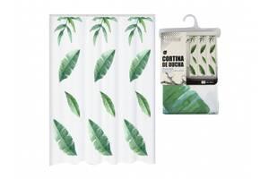 Занавеска в ванную Bathlux Green Leaves 60527 SKL11-132638