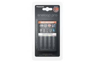 Зарядний пристрій для акумуляторів PANASONIC Smart-Quick Charger+Eneloop Pro +4*AA 2500 mAh NI-MH (K-KJ55HCD40E)
