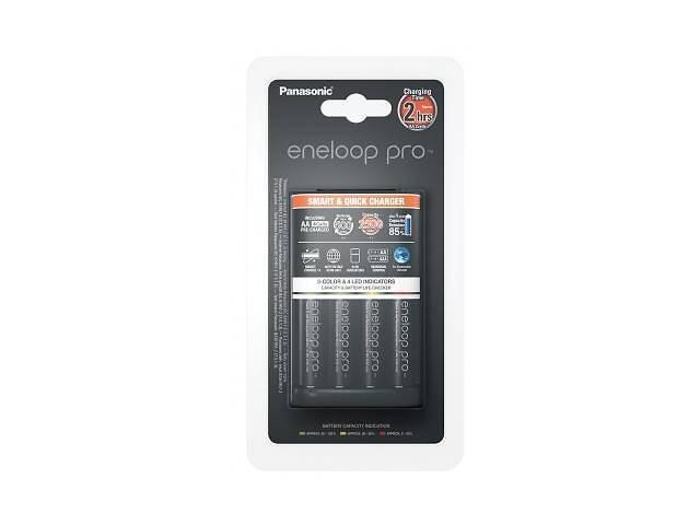 бу Зарядное устройство для аккумуляторов PANASONIC Smart-Quick Charger+Eneloop Pro +4*AA 2500 mAh NI-MH (K-KJ55HCD40E) в Харкові
