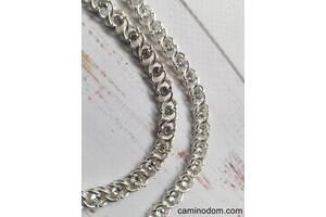 Колье арабский бисмарк с камнями. серебро 925 пробы. ручное плетение