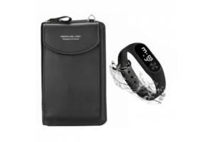Кошелек Forever Baellerry black и в подарок Наручные часы Led Watch Smart SKL11-277582
