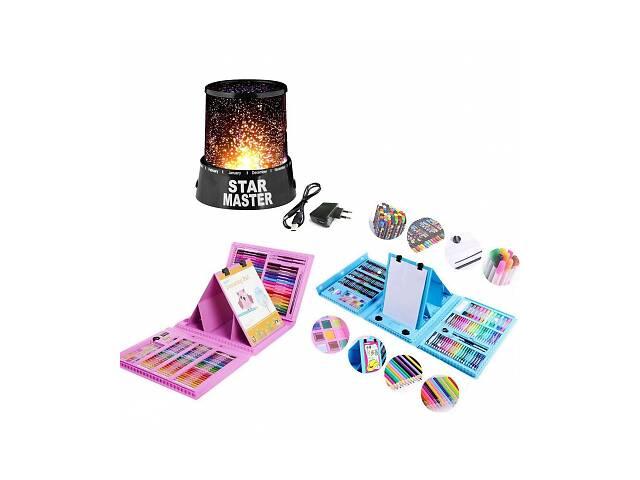 продам Набор для рисования с мольбертом в чемодане на 208 предметов в подарок Проектор звездного неба SKL11-261326 бу в Харькове