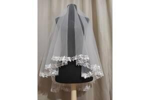 Свадебная фата фаты фаты вышивка вышивка кружево