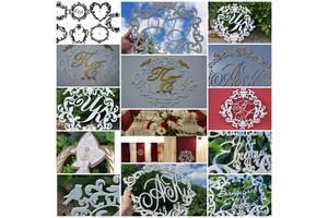 Свадебная монограмма герб атрибутика свадебные буквы украшения