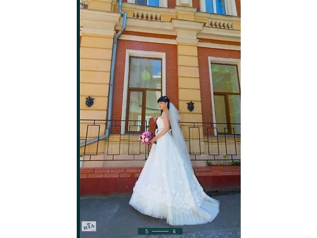 """купить бу Свадебное платье s с шлейфом, papilio """"лесные грезы"""" в Беляевке"""