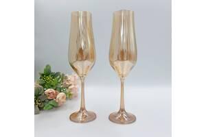 Свадебные бокалы Bohemia Tulipa optic 170 мл ассортимент цветов