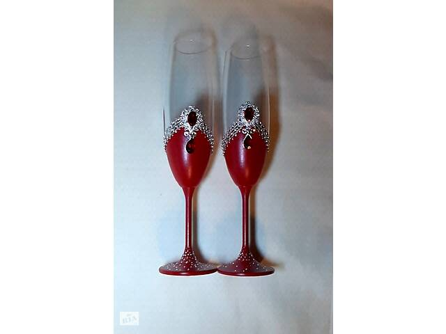 Свадебные бокалы с гравировкой- объявление о продаже  в Полтаве