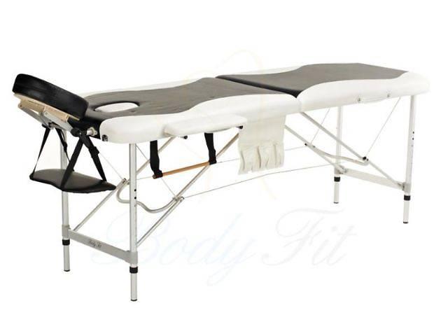 Алюминиевый 2-х сегментный стол для массажа белый-черный- объявление о продаже  в Львове