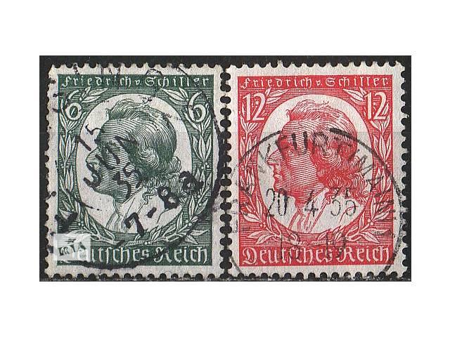 купить бу 1934 - Рейх - Ф.Шиллер Mi.554-55 в Ровно